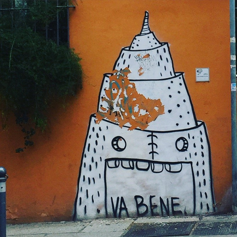 Torre di Babele - Tower of Babble - Graffiti in Bologna